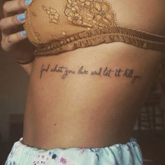 Rib cage tattoo!!!! Bukowski quote