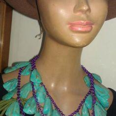 Mani Crochet Necklace, Artisan, Jewels, Handmade, Vintage, Beauty, Fashion, Crochet Collar, Craftsman