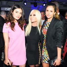 Nina Dobrev Versus Versace Mercedes-Benz Fashion Week Spring 9/7/2014