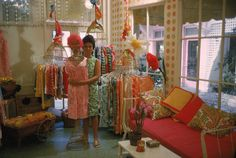 1962- Lilly in her first shop off Via Mizner in Palm Beach (Photographed by Howell Conant)