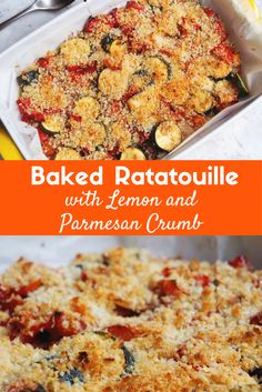This vegetarian one tray wonder is simple but delicious whether you serve it as a main or as a side. And that parmesan and lemon crumb? It's the tops!