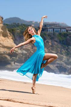 Beautiful aqua dress on Keenan Kampa in Laguna Beach!