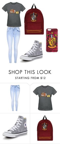 """Mara's favourite style"" by maramira2005 ❤ liked on Polyvore featuring Glamorous, Pusheen, Converse and Hot Topic"