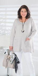 Plus size Box 2 silver oversize jumper