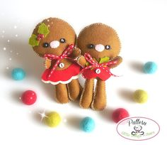 Set of two Gingerbread Kids by LittleThingsToShare on Etsy