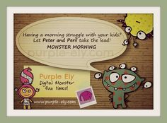 Click here to see more tips on how to get your kids organised in the morning.  www.purple-ely.com #kids #apps #crafts   #monsters #organise