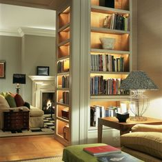 Trendy Home Library Lighting Library Lighting, Bookcase Lighting, Home Library Design, Home Interior Design, House Design, Home Theaters, Bookshelf Design, Bookshelf Ideas, Home Libraries