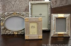Tutorial for transforming old frames & furniture with spray paint and gold leaf {The Creativity Exchange}
