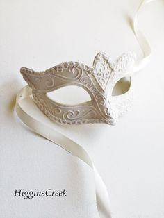 elegant White Masquerade Mask wedding masquerade mask