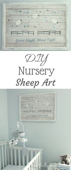 Simply Beautiful by Angela: DIY Nursery Sheep Art