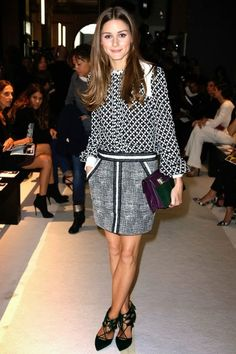 THE OLIVIA PALERMO LOOKBOOK: Paris Fashion Week : Olivia Palermo at Andrew GN