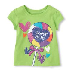 sweet lil sis graphic tee (Children's Place 6m-5T)