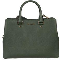 Moss Savannah Large Satchel (1 780 SEK) ❤ liked on Polyvore featuring bags, handbags, moss, michael kors, satchel style handbag, satchel style purse, satchel handbags and satchel purses