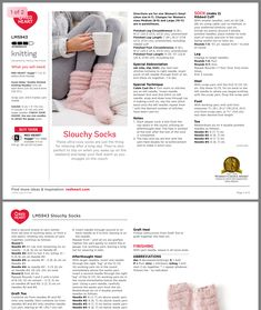 Christmas Knitting Patterns, Easy Knitting, Baby Knitting Patterns, Knitting Socks, Knitting Designs, Knitted Socks Free Pattern, Easy Crochet Slippers, Quick Knits, Knitting Accessories