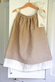 DIY Sewing: Double Layer Pillowcase Dresses
