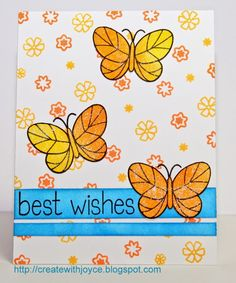 07 16 14; Best Wishes; Lawn Fawn Flutter By stamp set; Lawn Fawn So Much to Say stamp set