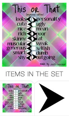 """""""This Or That (Boyfriend Edition)"""" by kpopisbae4life ❤ liked on Polyvore featuring art"""