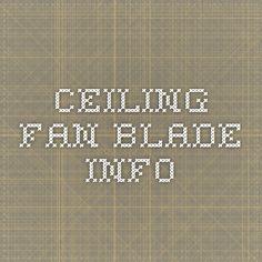 ceiling fan blade info