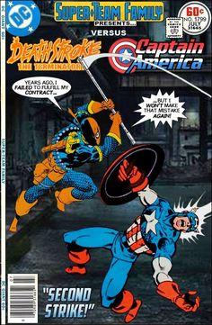 #dc #dccomics #marvel #marvelcomics #superteamfamily  #comicbooks #covers #superheroes #comicwhisperer #comiccovers #deathstroke #captainamerica