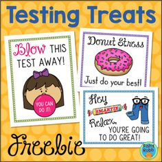Tags for Testing Treats - Student Encouragement & Motivation Testing Treats For Students, Student Treats, Staar Test, Test Day, Student Motivation, Test Prep, Student Gifts, Staff Appreciation, Positive Thoughts