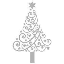Modern swirly Christmas tree