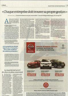 Comment financer son parc automobile ? l'avis de Philippe Bellevergue du Groupe SFC dans une interview publiée dans Le Monde ce jeudi ! (version papier)