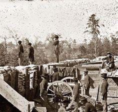 Atlanta, Georgia. Sherman's men in Confederate fort east of Atlanta