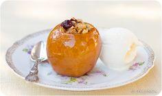 Stuffed Apples with Vanilla Ice Cream #healthy #gluten-free #dairyfree(use dairyfree coconut ice cream) #vegetarian