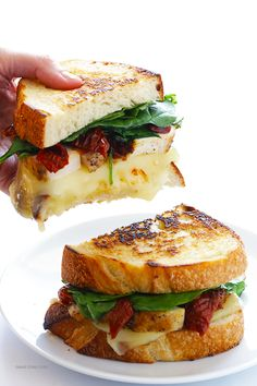Chicken Florentine Grilled Cheese- Grilled chicken spinach and sun-dried tomatoes take this grilled cheese sammy to the next level! Lunch Recipes, Cooking Recipes, Burger Recipes, Easy Recipes, National Grilled Cheese Day, Chicken Florentine, Pasta Florentine, Grilled Cheese Recipes, Grilled Cheeses