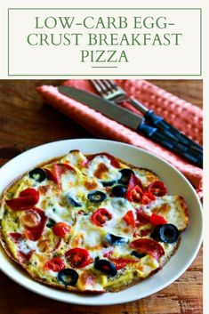 If you're a fan of cold pizza for breakfast, you'll love this Low-Carb Egg-Crust Breakfast Pizza! This tasty breakfast pizza is also Keto, l. Best Brunch Recipes, Favorite Recipes, Healthy Recipes, Vegetarian Pizza, Vegetarian Breakfast, Breakfast Pizza, Perfect Breakfast, Small Toaster Oven, Allrecipes Recipe