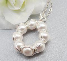 Circle Of Love Swarovski Peapod Necklace  by ThePeasInAPodShop, $20.00