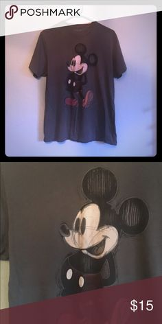 Grey crazy shirt small sketchy Mickey Disney Grey crazy shirt small sketchy Mickey Disney crazy shirt  Tops Tees - Short Sleeve