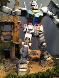 GUNDAM GUY: MG 1/100 RX-78-2 Gundam - Diorama Build