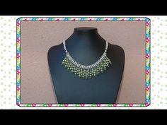 Manualidades bisuteria DIY collar VI collar egipcio jade rosa - YouTube