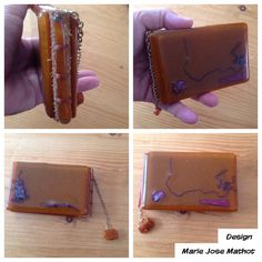 Fused glass bookcover