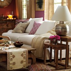 Nesting Tables & Lamp.