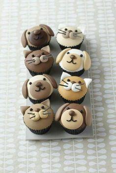 Pupcakes de gatos y perros