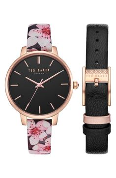bb16ef84a4e9 New Ted Baker London Kate Leather Strap Watch Set