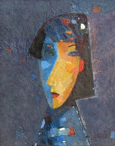 Artist: Vladimir Karnachev Abstract Faces, Abstract Art, Painting Still Life, London Art, Naive Art, Portrait Art, Modern Artists, Figurative Art, Female Art