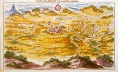 """""""Mapa del Curato de Santa Anna"""" (Santa Ana) que fué creado en el año 1768. Archivo General de Indias (Sevilla, España) Muestra el territorio que actualmente conforma el Municipio Salvadoreño de Santa Ana y sus alrededores. Forma parte de la """"Descripción Geográfico Moral de la Diócesis de Goathemala"""". En el mapa aparece enumerados en orden:  • Santa Ana (como número 1) • Santa Lucía (como n° 2) • Coatepeque (n° 3) • Haciendas a varias distancias (enumeradas del 4 al 41), -  • Trapiches y…"""