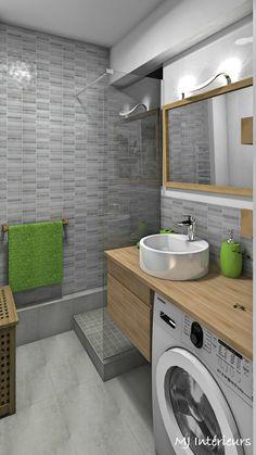 The bathroom is optimized and modernized: bathroom style by mj interiors, modern - Ceramic Tile Bathrooms, Zen Bathroom, Bathroom Plans, Bathroom Design Small, Laundry In Bathroom, Bathroom Layout, Bathroom Interior Design, Bathroom Ideas, Bathroom Fixtures