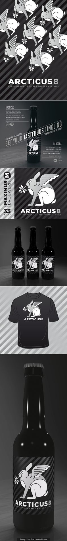 Fun Winter ale packaging concept : ) curated by Packaging Diva PD created via https://www.behance.net/gallery/19668203/Arcticus-Winter-Ale-Brouwerij-Maximus?