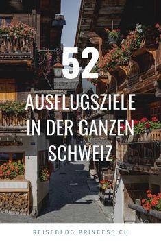 Entdecke über 50 Ausflugsziele in der ganzen Schweiz. Graubünden, Zentralschweiz, Tessin, Zürich, Bern, Westschweiz und in der Ostschweiz. Zahlreiche Ausflugstipps vom wandern über Städtereisen bis hin zu Wellness. Lass dich mit Reise-Tipps inspirieren! Zermatt, Wallis, Bern, Broadway Shows, Wellness, Road Trip Destinations, Beautiful Places, Travel Advice, Hiking