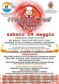 MasterChef : piccoli chef in cucina 14 Maggio Cavriana (MN) 2016