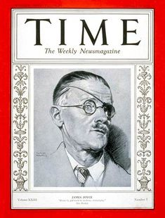 Joyce's first appearance on Time Cover