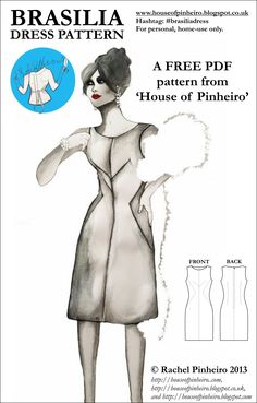 Dress--faulty link, but I like the seaming being used instead of darts Dress Making Patterns, Sewing Patterns For Kids, Clothing Patterns, Sewing Tutorials, Sewing Crafts, Sewing Projects, Do It Yourself Fashion, Couture Sewing, Pattern Drafting
