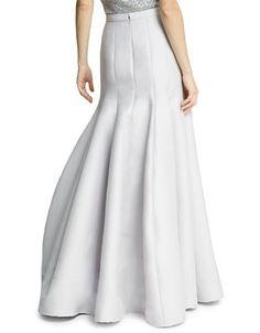 Silk Faille Structured Skirt Back | Hudson's Bay