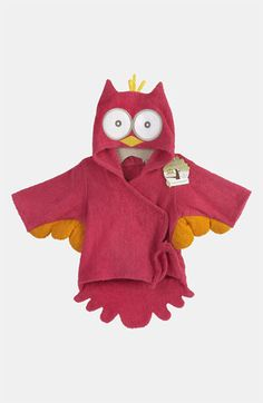 Have to have this!!!  Baby Aspen 'My Little Night Owl' Hooded Robe (Infant) | Nordstrom
