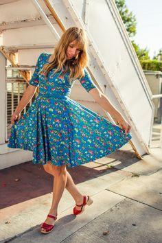 "LulaRoe blue floral ""nicole"" dress http://www.lularoe.com"