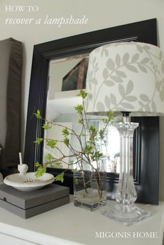 This lamp looks fabulous after the shade was recovered! Jen has a great eye; I really enjoy her blog.